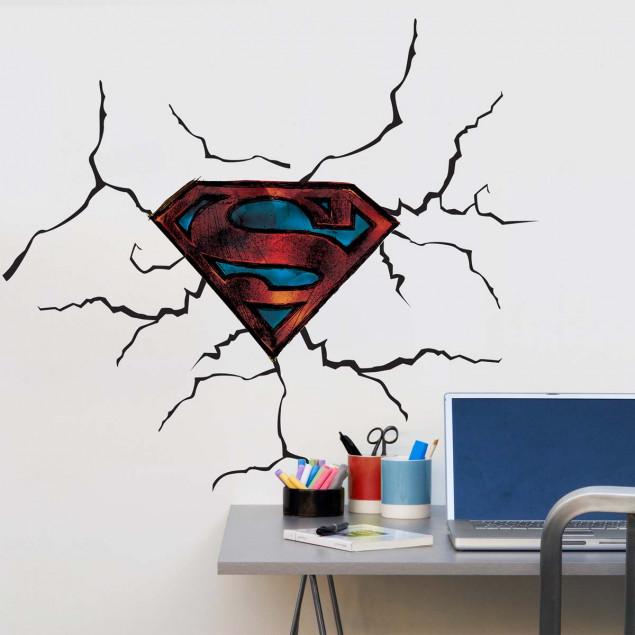 XL Superman logo wall stickers