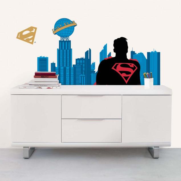 Stickers muraux Superman city XXL