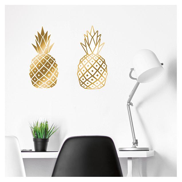 Golden Pineapple wall sticker