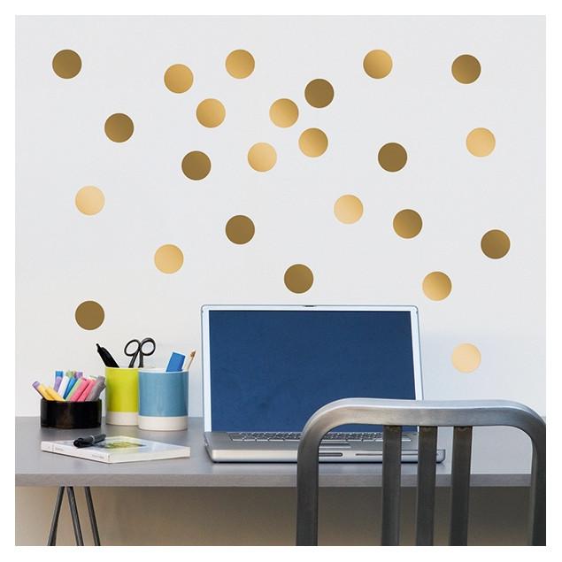 Golden Dots Wall Stickers