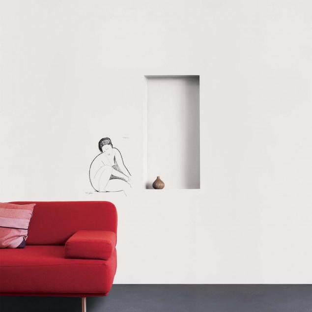 Sitting Nude wall sticker, A. MODGLIANI