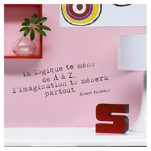 Quote Sticker - Einstein - La logique te mène de A