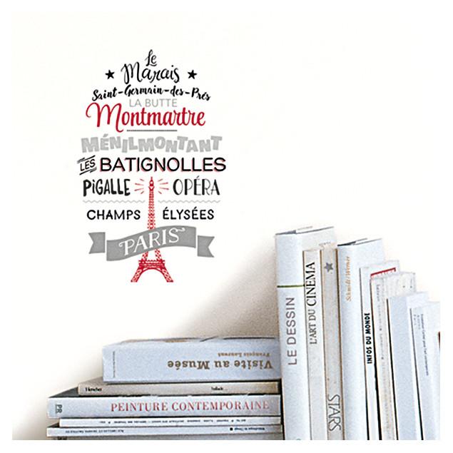 Famous Parisian Quartiers wall sticker