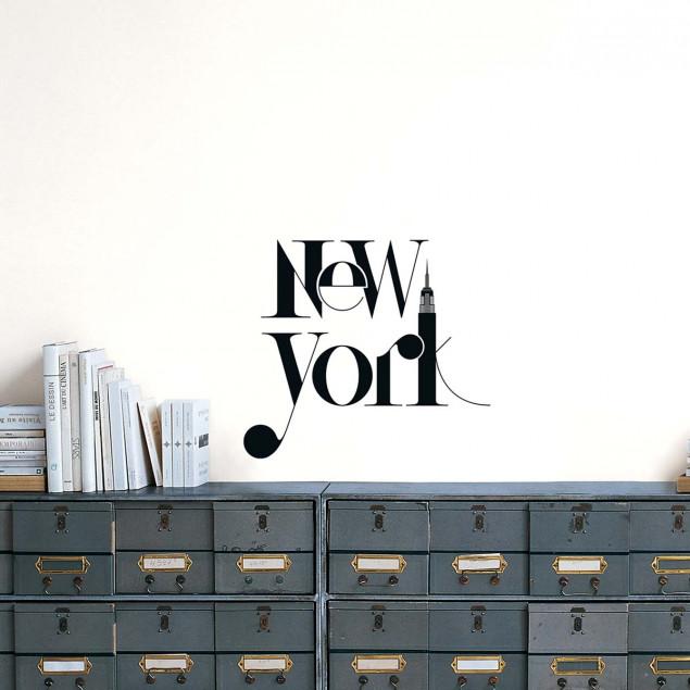 New York Typographic XL Transfer Wall Sticker