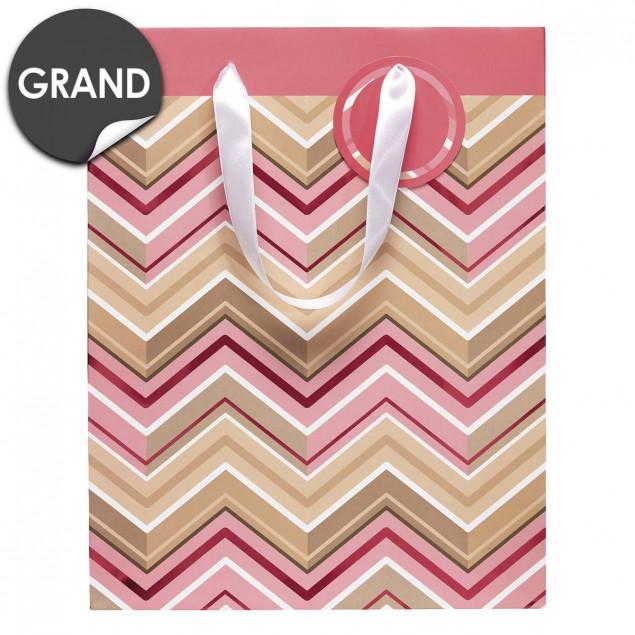 Herringbone pattern gift bag