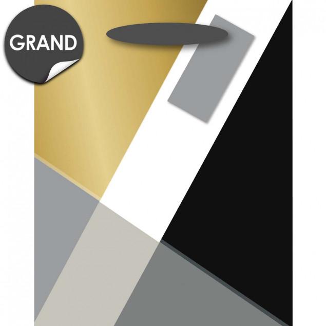 Gold and grey geometric gift bag
