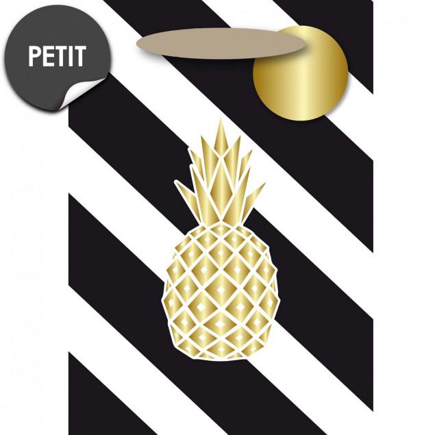 Golden pineapple gift bag