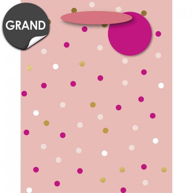 Pink and gold dots gift bag