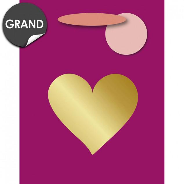 Golden heart gift bag