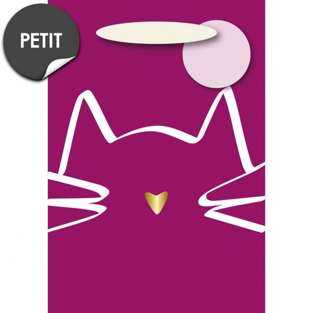 Pink cat gift bag