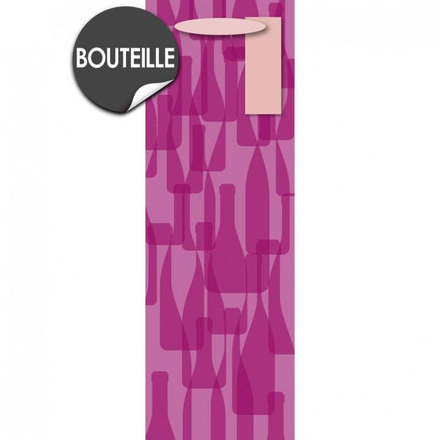 Pink bottle gift bag