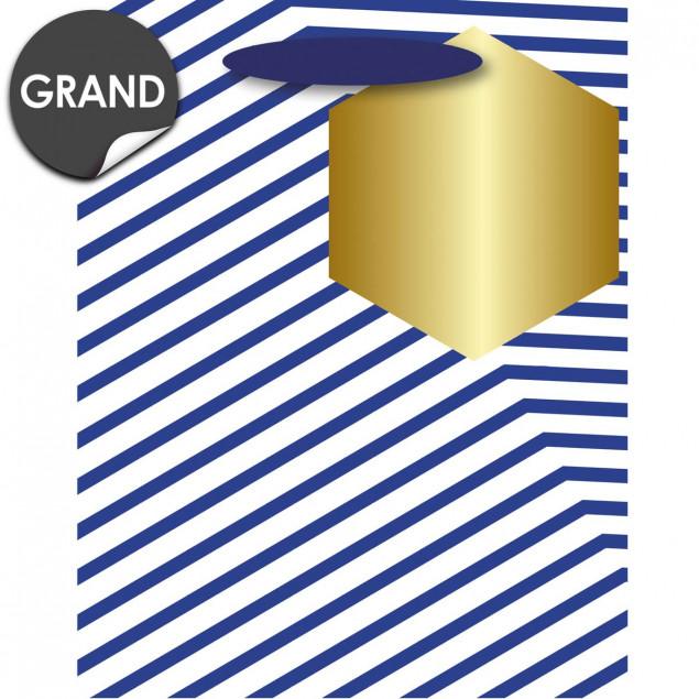 Blue stripes gift bag