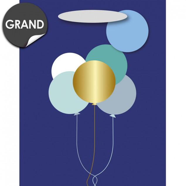 Blue balloon gift bag