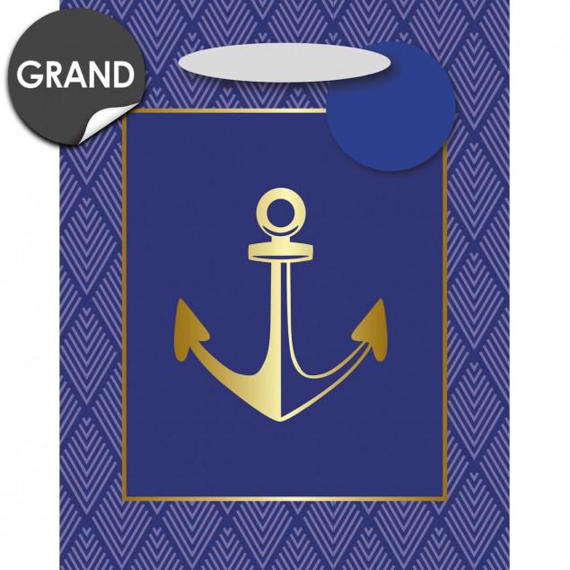 Blue anchor gift bag