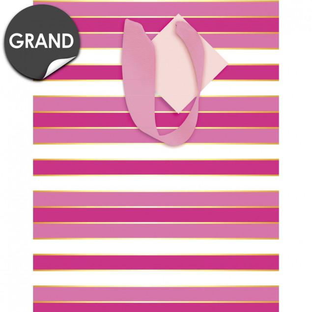 Pink stripes gift bag