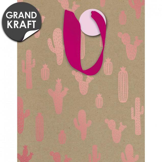 Pink cactus gift bag
