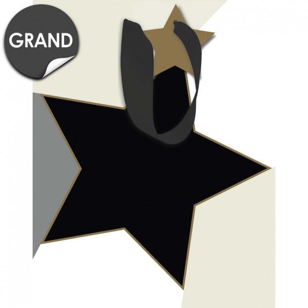 Black & Gold Star Gift Bag
