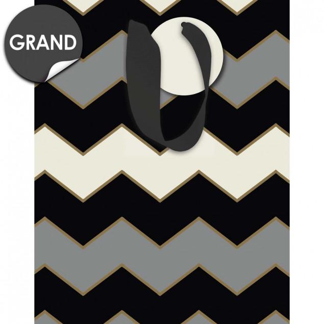 Gray chevrons pattern gift bag