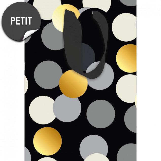 Black & Gold Dots gift bag