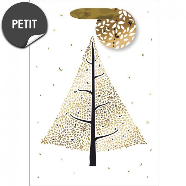 Gold Christmas tree gift bag