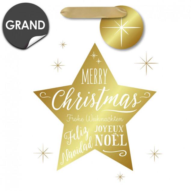 Star Merry Christmas Gift Bag