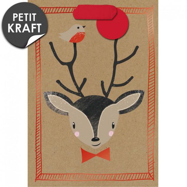Reindeer head gift bag