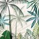 Jungle Palm tree canvas  9x9 inch