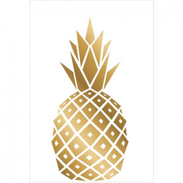 Wall sticker Gold Pineapple 26 x 36 cm