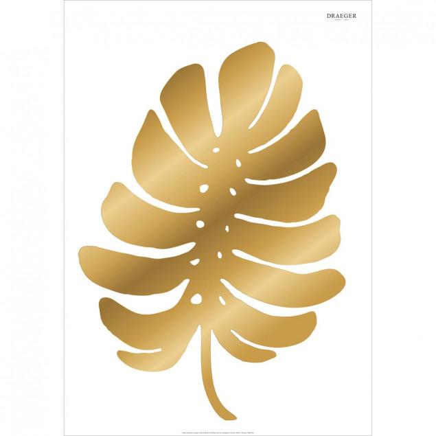Wall sticker Palm leaf Gold 50 x 70 cm