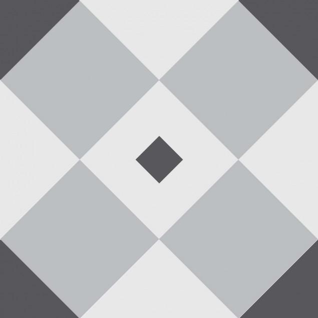 Adhesive squares - Cross and grey diamonds optical
