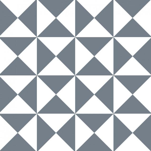 Carrés adhésifs - Motif triangle illusion gris et