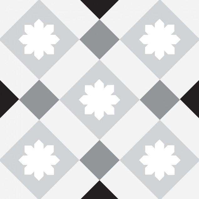 Adhesive squares - Scandinavian style grey diamond