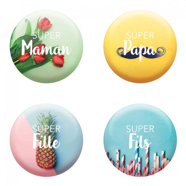 """Set of 4 magnets """"Famille Géniale"""" (Amazing Fam"