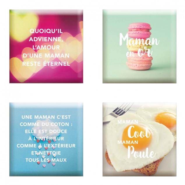 """""""Set of 4 magnets """"""""Fête Des Mères"""""""" (Mother's Day"""
