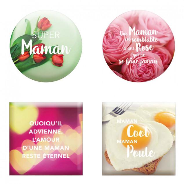 """""""Set of 4 magnets """"""""Fête Des Mamans"""""""" (Mum's Day)"""""""