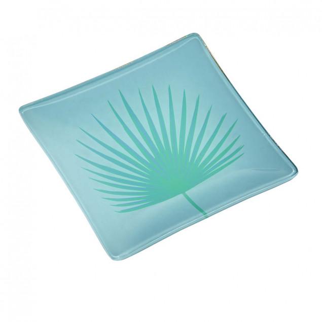 Vide-poches en verre - motif Palmier