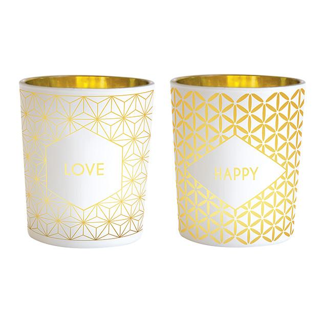 Happy - Love tealight holders