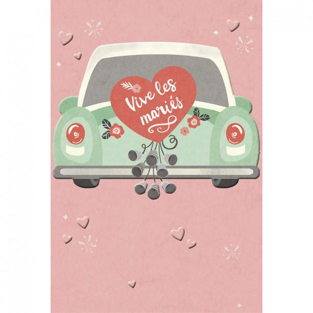 """""""Vive les mariés"""" (Long Live the Newly Weds) card"""