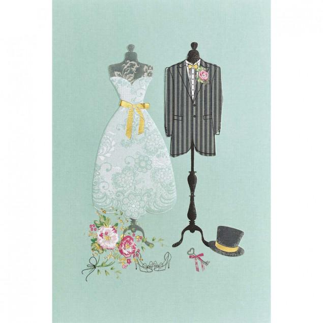 """""""Les Mariés"""" (The Newly Weds) card"""