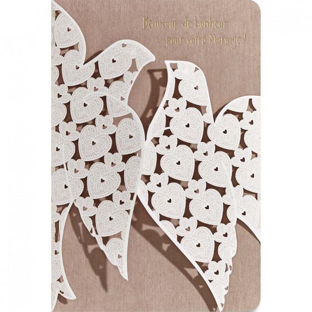 """""""Colombes de Mariage"""" (Wedding Doves) card"""