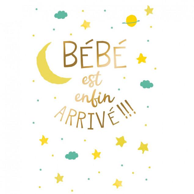 """""""Bébé est enfin arrivé !"""" (Baby is here at last!)"""