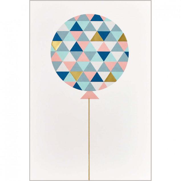 Graphic balloon card