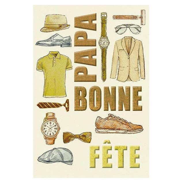 """""""Panoplie pour Papa"""" (Dad's Paraphernalia) card"""