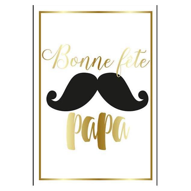 """""""La Moustache de Papa"""" (Dad's Moustache) card"""