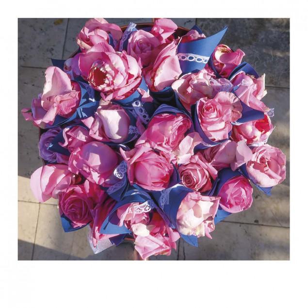 Carte Pola bouquet rose