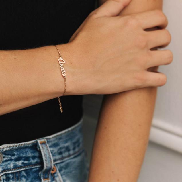 Golden name bracelet Anaïs