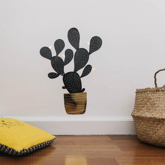 Black & Gold Cactus XL Wall Sticker
