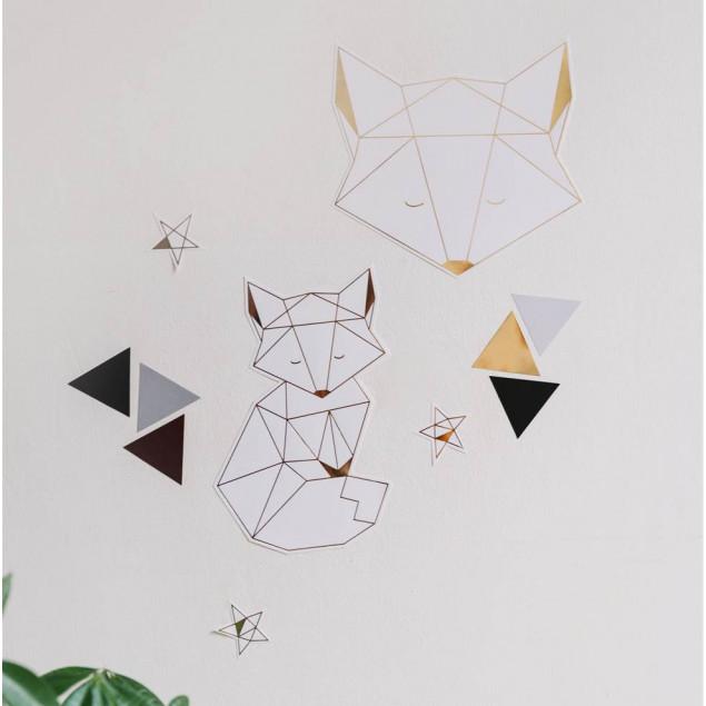 Little Golden Fox Wall Sticker