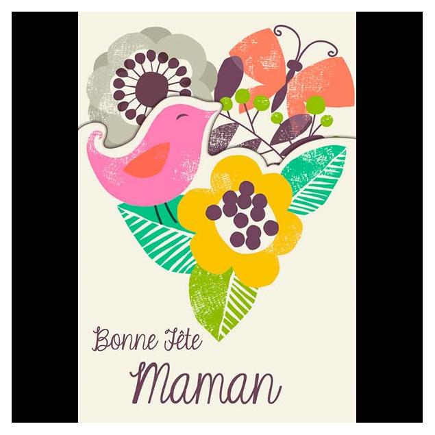"""""""Bonne Fête Maman"""" (Happy Mother's Day Mum) card"""