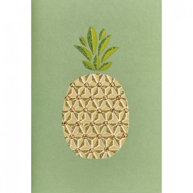 Sequinned pineapple greetings card